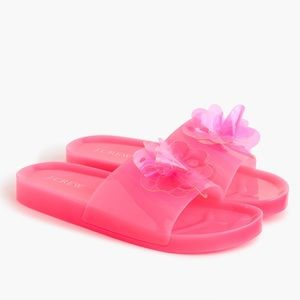 NIB J Crew Pink Flower Pool Sandals Size 7